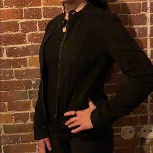 Coffee Shop black suede jacket